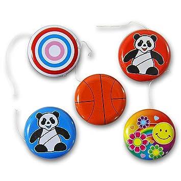 Jojo mit LED Lichteffekt 6 cm Spiel Spiele Seil Tombola Mitgebsel Give away Spielzeug & Modellbau (Posten) Großhandel & Sonderposten