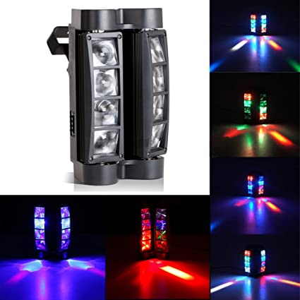 Ogori Octopus Style Light DJ Moving Head Lights Beam 8x10W RGBW Strobe Effect With DMX For