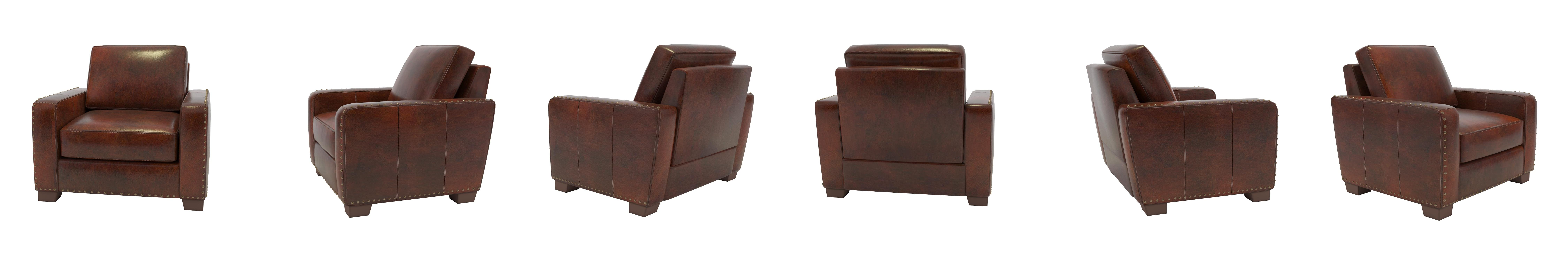 Amazon Abbyson Beverly Hand Rubbed Leather Armchair Home