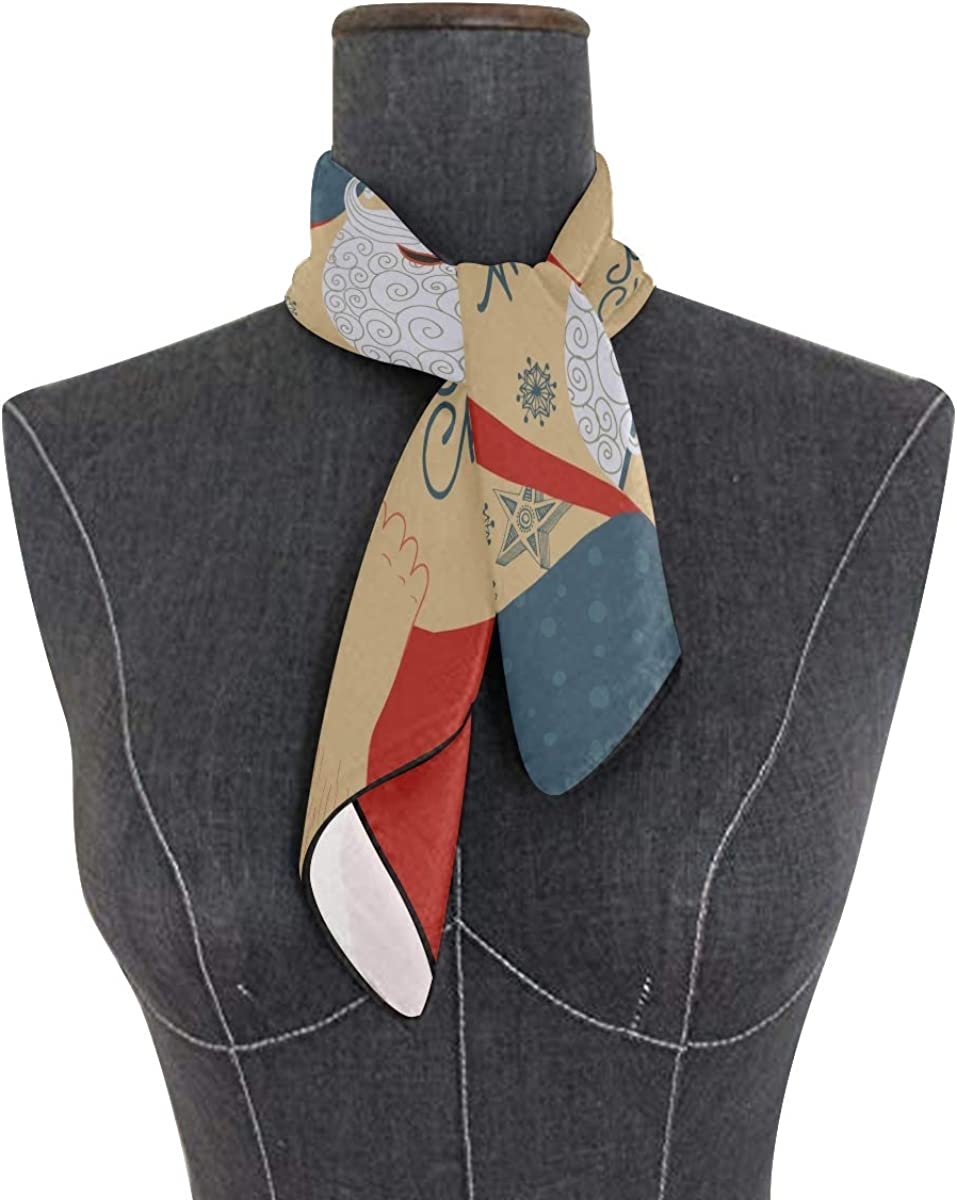 Soft Polyester Silk Girl Scarf Fashion Print Art Cool Christmas Tattoo Head Scarf Square Hair Scarf Wrap Square Scarf For Women Multiple Ways Of Wearing Daily Decor