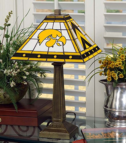 NCAA University of Iowa 23in Mission Lamp, One Size, Multicolor by Memory Company