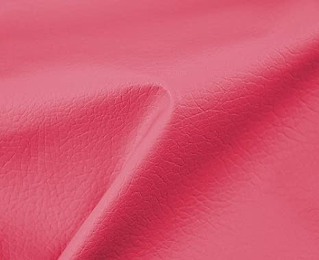 0,50 Metros de Polipiel para tapizar, Manualidades, Cojines o forrar Objetos. Venta de Polipiel por Metros. Diseño Beckham Color Chicle Ancho 140cm