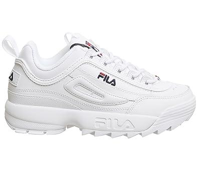 Fila Womens White Disruptor II Premium Sneakers