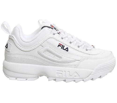 Fila Vintage Hombre Disruptor II Premium Trainers, Blanco,43 EU: Amazon.es: Zapatos y complementos