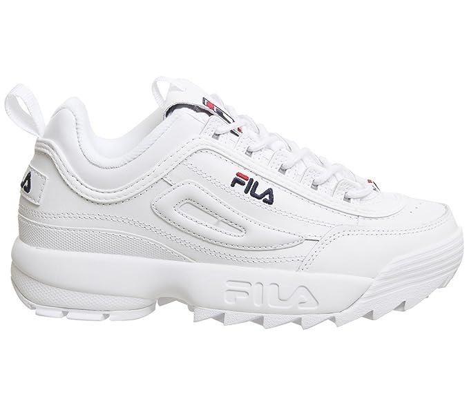 Fila Donna Bianco Disruptor II Premium Sneaker  Amazon.it  Scarpe e borse 4205bf09bda
