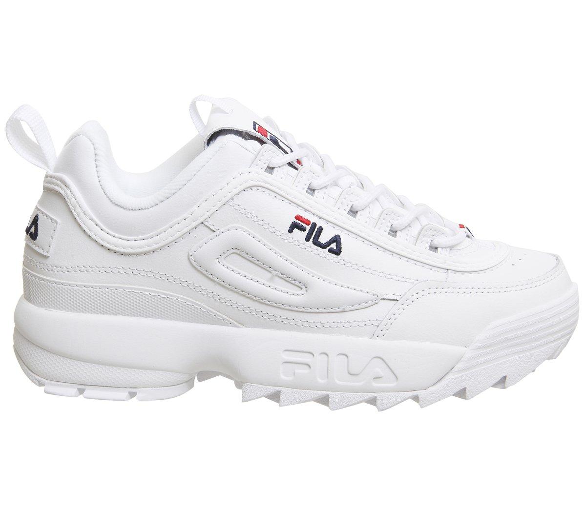 best sneakers b91e7 ac947 Fila Donna Bianco Disruptor II Premium Sneaker product image
