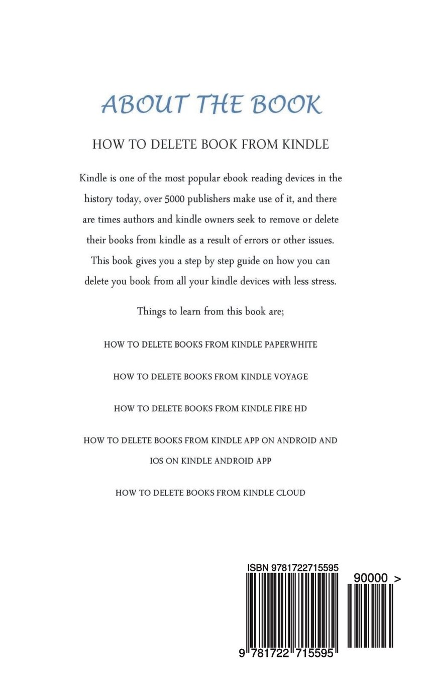 How To Delete Books From Kindle: A Step by Step Instruction
