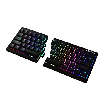9e8f451c122 Mistel Barocco Ergonomic Split PBT RGB Mechanical Keyboard with Cherry MX  Blue Switches, Black: Amazon.ca: Electronics
