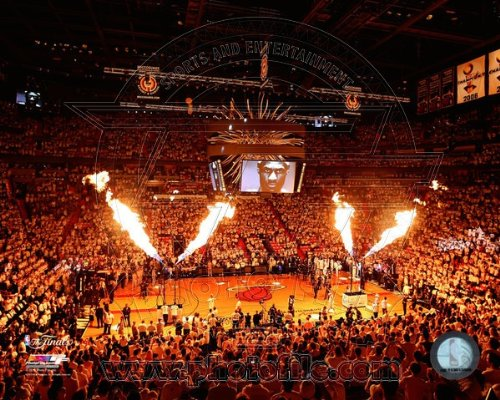 Miami Heat 2013 NBAファイナルゲーム1 American Airlines Arena写真20 x 24   B00DBF9W8C