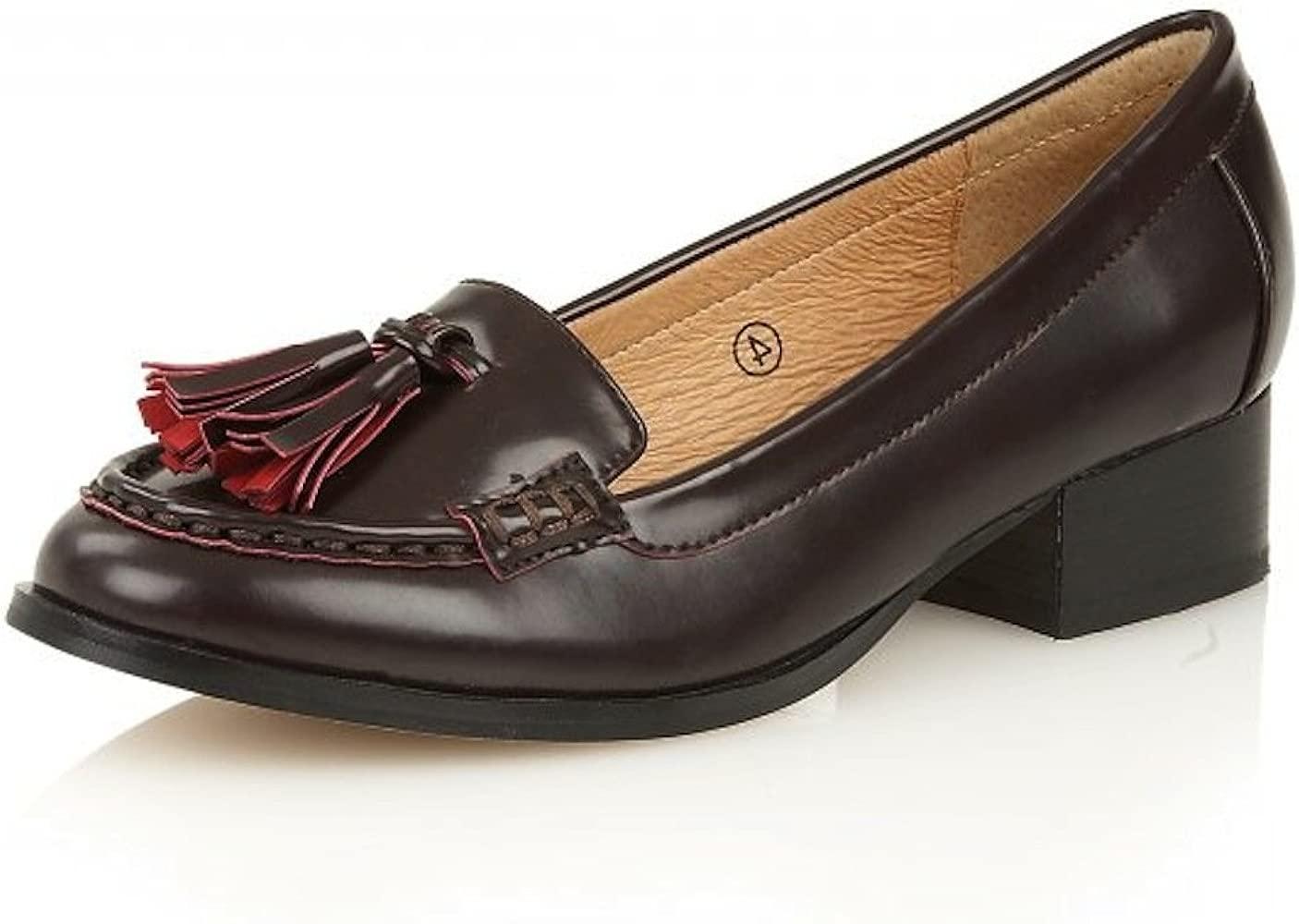 brand new fast delivery 50% price Ravel Brantford - Womens Burgundy Chic Tassel Low Heel Slip On ...