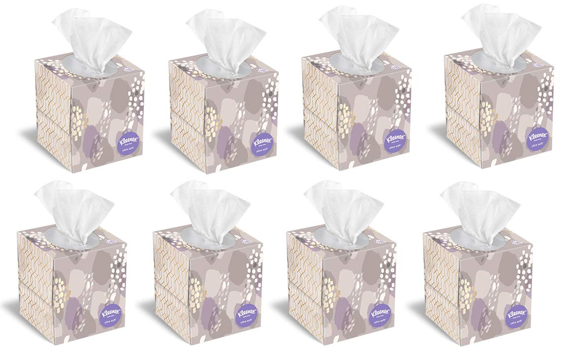 Kleenex Ultra Soft & Strong Facial Tissues, 75 Count, 8 Pack (Packaging May Vary)