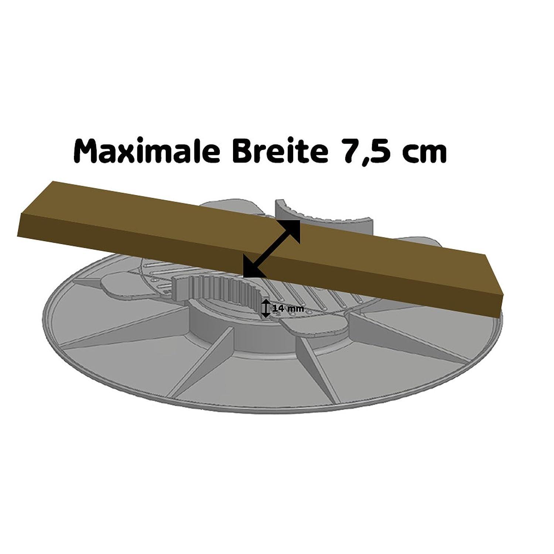 Plot pour terrasse en bois /à hauteur r/églable 3-5 cm de Gartenpirat