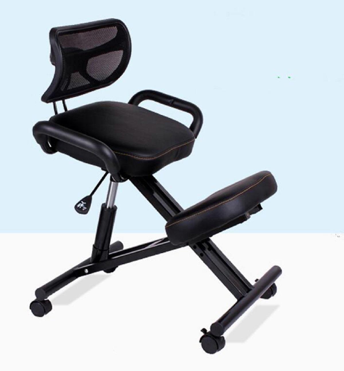 GAOJIAN Chaise ergonomique au genou avec dossier et poignée Bureau Chaise à genoux Chaise ergonomique à posture