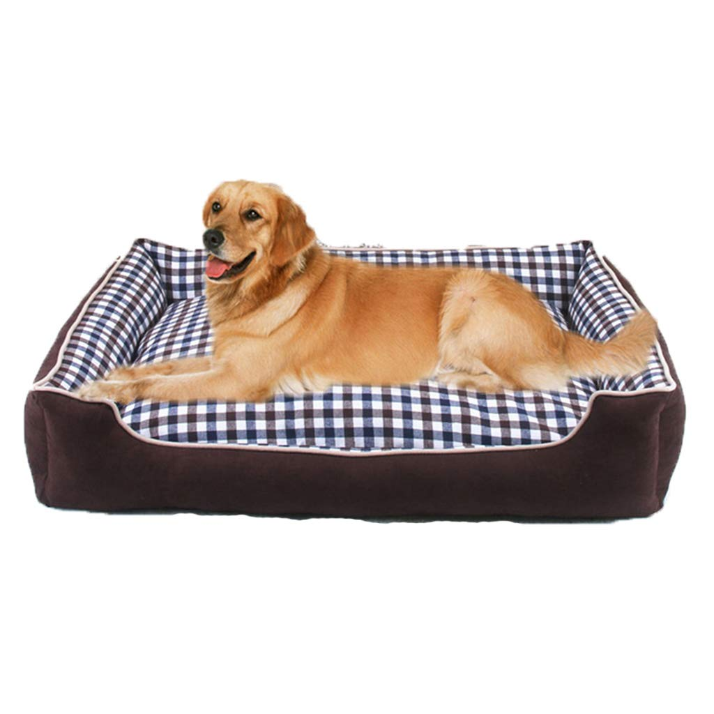 Brown Small Brown Small Qi Pet Dog Bed Mat For Teddy golden Retriever Large Dog Pet Kennel Four Seasons Pet Supplies (color   BROWN, Size   S)