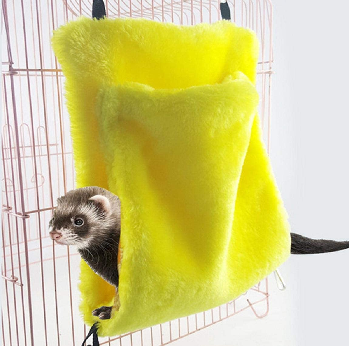 Barlingrock Pet Small Animals Beds House, Hamster Dwarfs Guinea Pig Winter Warm Nest Rat Parrot Bird Soft Comfortable Hanging Swing Hammock Squirrel Chinchilla Cave Cage Sleep Play Rest Cage Mat