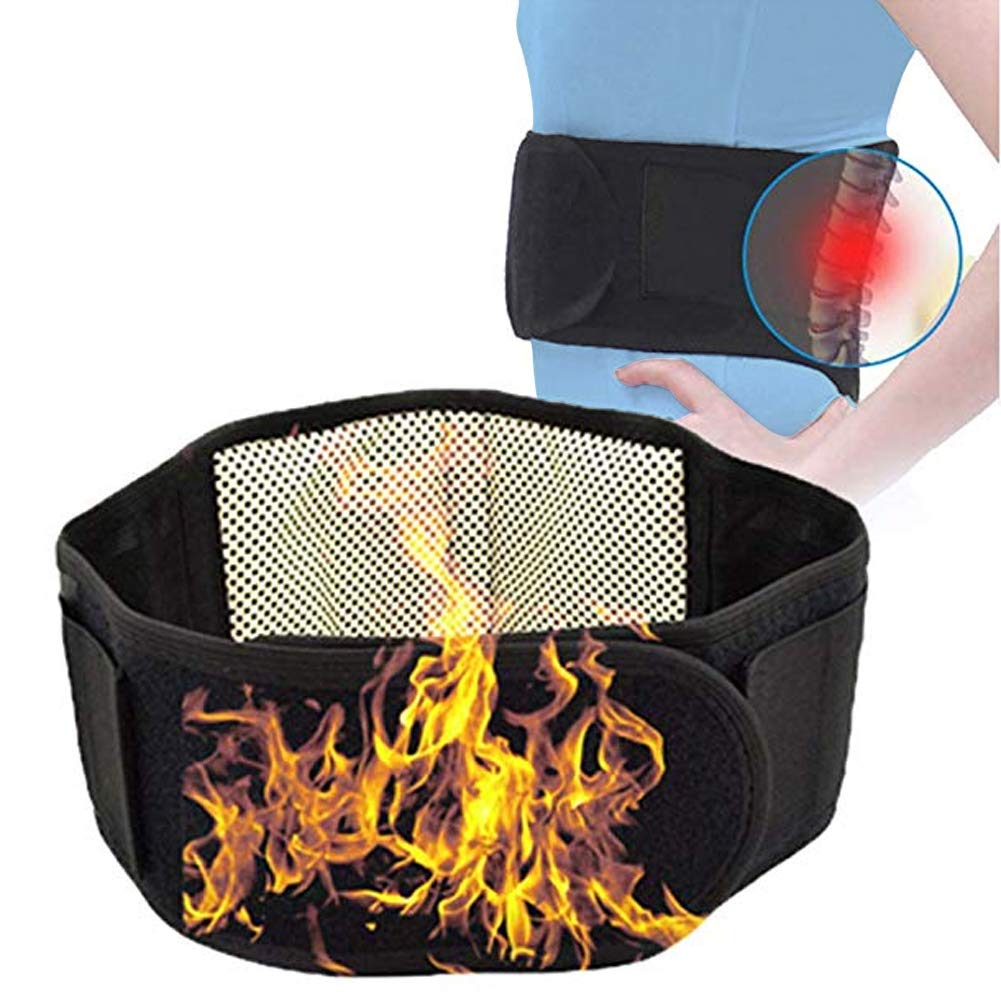 Magnetic Waist Heating Belt, Self-heating Thermal Magnetic Heat Waist Belt Pain Relief Lower Back Lumbar Therapy Support Hot Compress Therapy for Lower Back Pain Relief