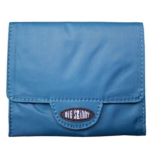 Big Skinny Women's Trixie Tri-Fold Slim Wallet, Holds Up to 30 Cards, Ocean Blue