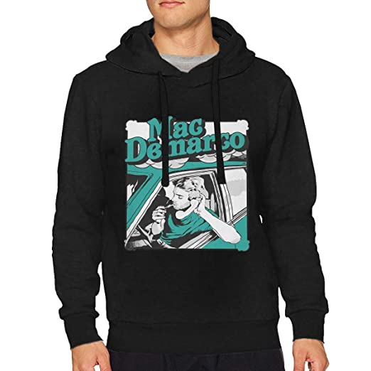 d4ac918a5 Amazon.com: Mac Demarco Mans Hoodies Custom Sweatshirts Black: Clothing