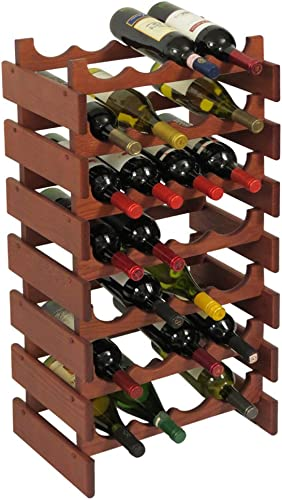 Wooden Mallet 28 Bottle Dakota Wine Rack