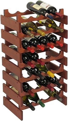 Wooden Mallet 28 Bottle Dakota Wine Rack