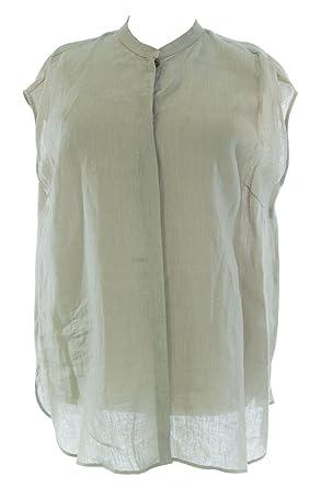 846623e650f Marina Rinaldi by MaxMara Ex/Accus Beige Linen Button-Up Tunic 12W / 21