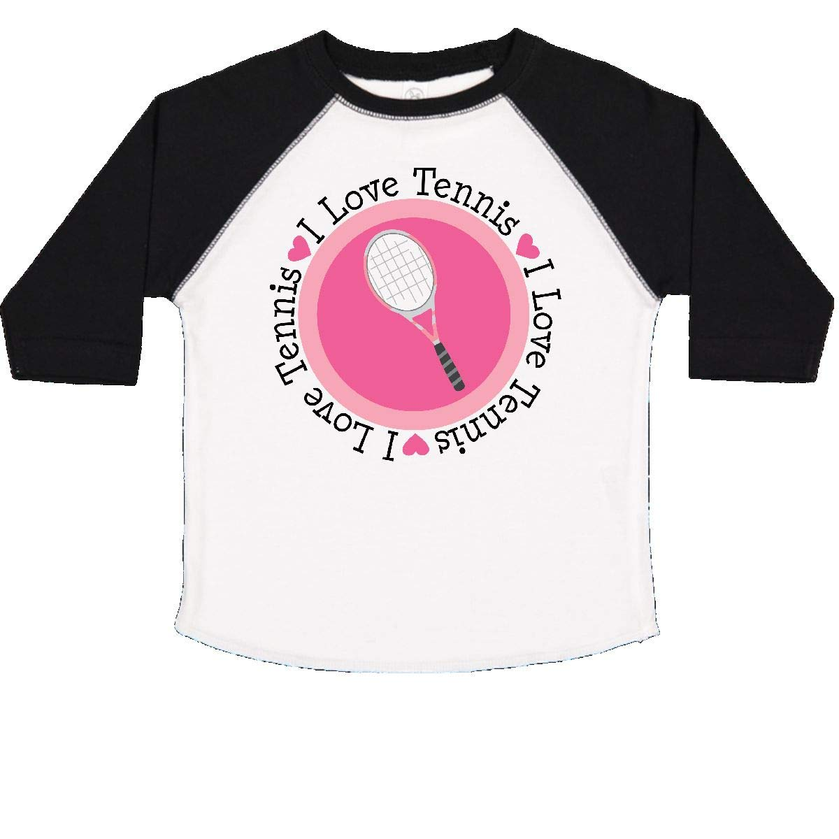 inktastic I Love Tennis Pink Toddler T-Shirt
