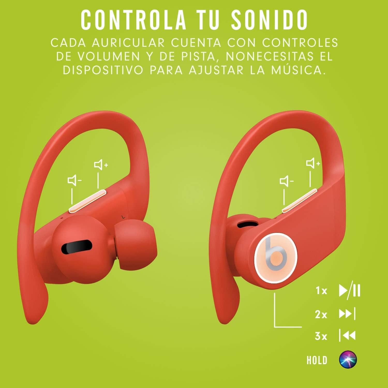 Powerbeats Pro - Auriculares intraurales inalámbricos - Chip Apple H1, Bluetooth de Clase 1, 9 horas de sonido ininterrumpido, resistentes al sudor - Rojo Lava: Amazon.es