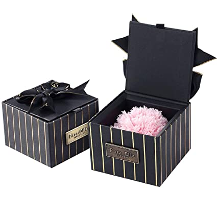 XXDYEE Carnations Gift Box Eternal Flower To Send Mom Birthday Gifts Preserving Flowers Color
