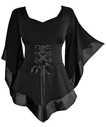 dfbba38d1ca Crazycatz Women s Victorian Gothic Renaissance Corset Top (XL UK 14 ...