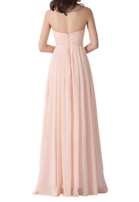AngelDragon Dreamlike Beige with Pink Evening Gown Bridesmaid Prom Dress