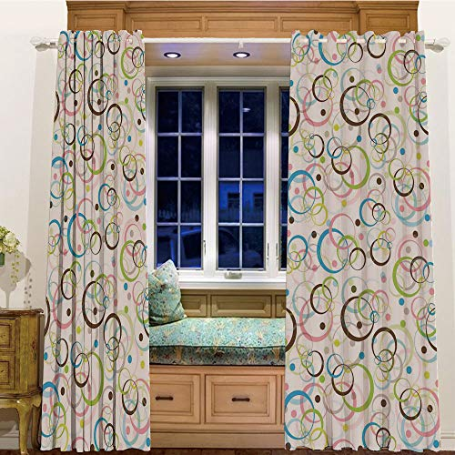 Printed Blackout Curtains Grommet Thermal for Small Windows 2 Drapes,58
