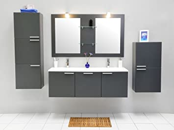 Badezimmermöbel Anthrazit badmöbel set kts 164 badmöbel doppelaschbecken badezimmermöbel