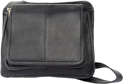 Piel Leather Slim Line Flap-Over Ladies Bag