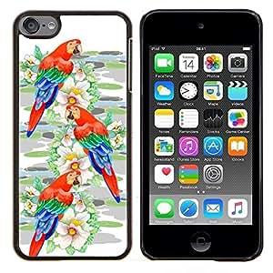 - Parrot Bird Watercolor Painting/ Duro Snap en el tel??fono celular de la cubierta - Cao - For Apple iPod Touch 6 6th Generation