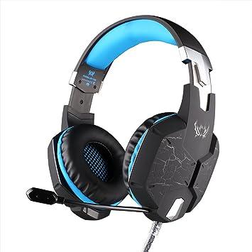 KOTION EACH G1100 Función de vibración Profesionales Auriculares para Juegos Gaming Headphone con Micrófono Estéreo Bajo