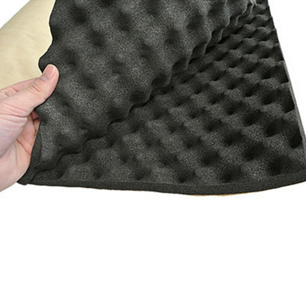 HOUTBY Silent Coat Sound Absorber 20mm Acoustic Foam Car Deadening Proofing 50cm X 50cm
