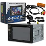 """New Power Acoustik Double Din 2DIN 6.2"""" LCD Navigation CD receiver Bluetooth USB with Wide Angle View Back up Camera"""
