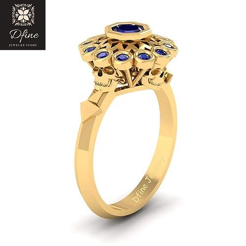 Amazon Classic Blue Diamond Symbol Of Death Skull Engagement