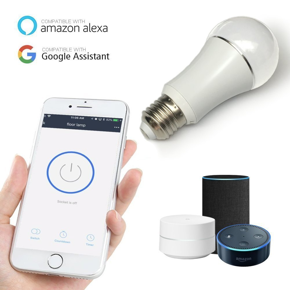 Color LED Light Bulb, Wi-Fi Dimmable Smart Bulb, Works with Alexa, Amazon Echo Dot Accessories, and Works with Google Home, Built-in Timer Switch for Smart Home Automation (50W 1-Pack) by TWB Smart (Image #6)
