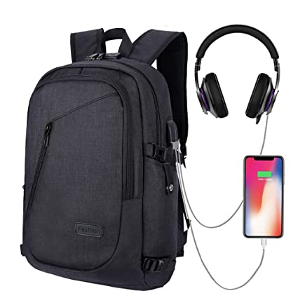 HITOP Backpack Bookbags Laptop Waterproof Fashion Cute Lightweight School  Bag for Teen Girls Boys Men Women (Black)  Amazon.co.uk  Luggage af1112dc3421f