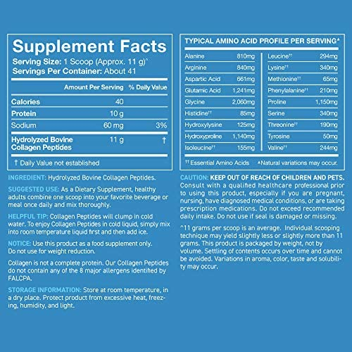 Collagen Peptides Powder | Non-GMO Verified, Certified Paleo Friendly and Gluten Free - Unflavored (16oz Jar) 8