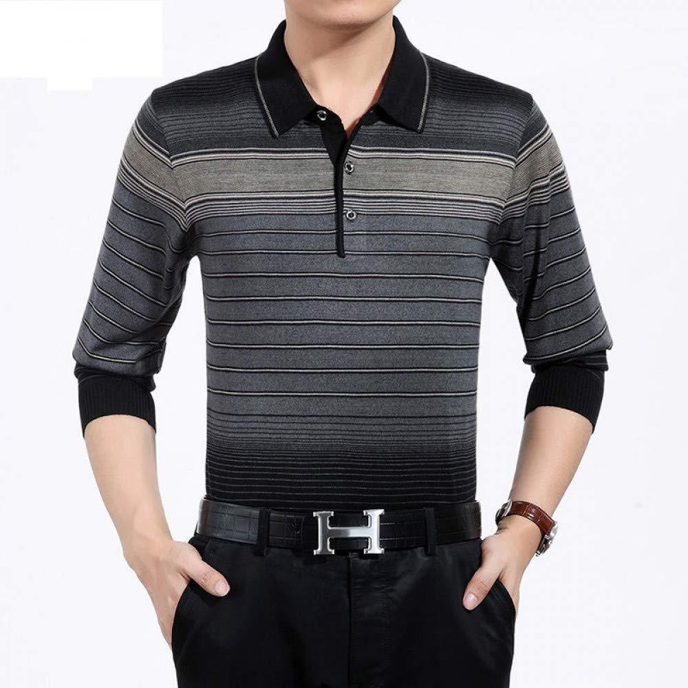 JIAKENVDE Herren Pullover Hohe Qualität Herbst Berühmte Marke Kleidung Geschäft Casual Gestreiften Pullover Plus Größe Shirts 66128