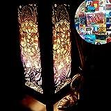 Ganesh Hindu Brahmin Worship India Handmade Asian Oriental Wood Table Bedside Light Night Lamp Gift Bedroom Garden Japanese Shade Frame Free Adapter a Us 2 Pin Plug #403