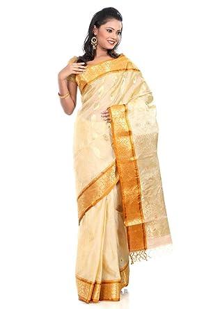 8f8ec048fad0b B3Fashion Traditional Ethnic Bengal Tant Pure Tussar Silk Handloom Saree  with Zari   Rust colored floral ...