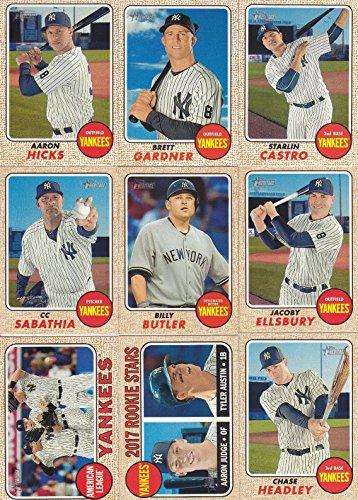 (New York Yankees 2017 Topps Heritage Series 12 Card Team Set with Aaron Judge Rookie Plus)