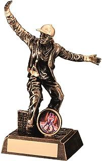 Lapal Dimension BRZ/Or Résine mâle Street Dance Figure Trophy–(1in Centre) 7.25en