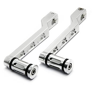 HANSWD 1 Set CNC Heel/Toe Shifter Gear Shift Pedal Lever Arms& Shifter Peg For Touring Softail Trike (Silver): Automotive