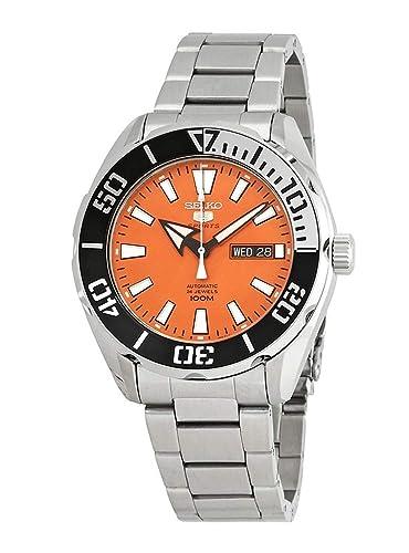 Seiko Reloj Analógico para Hombre de Automático con Correa en Acero Inoxidable SRPC55K1: Amazon.es: Relojes