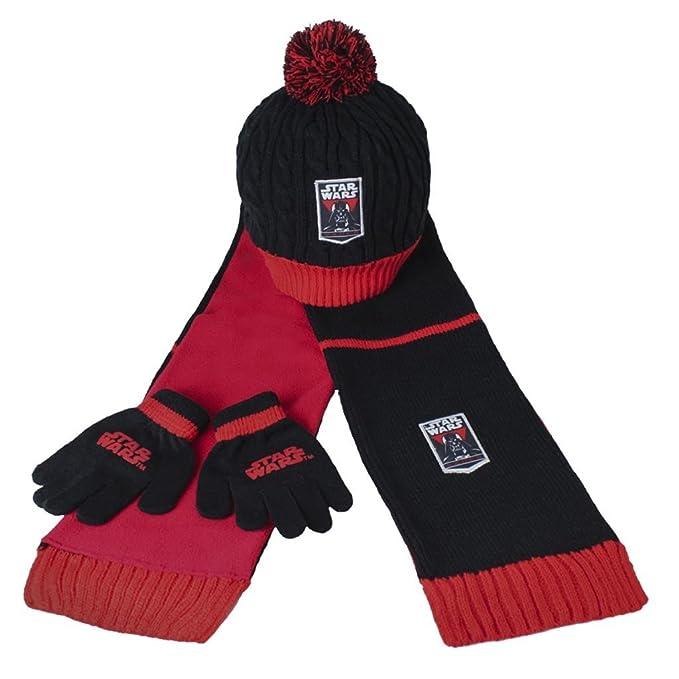Conjunto bufanda gorro guantes polar Star Wars  Amazon.es  Ropa y accesorios 446cb4343b0