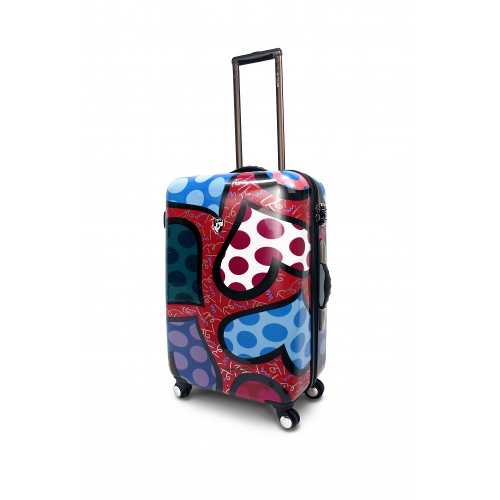 Britto Hearts Carnival 26'' Hardsided Spinner Suitcase